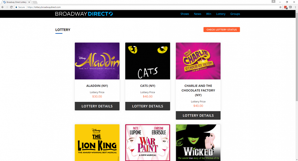 Broadway Direct Lottery