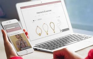 French Kande Website on phone and laptop