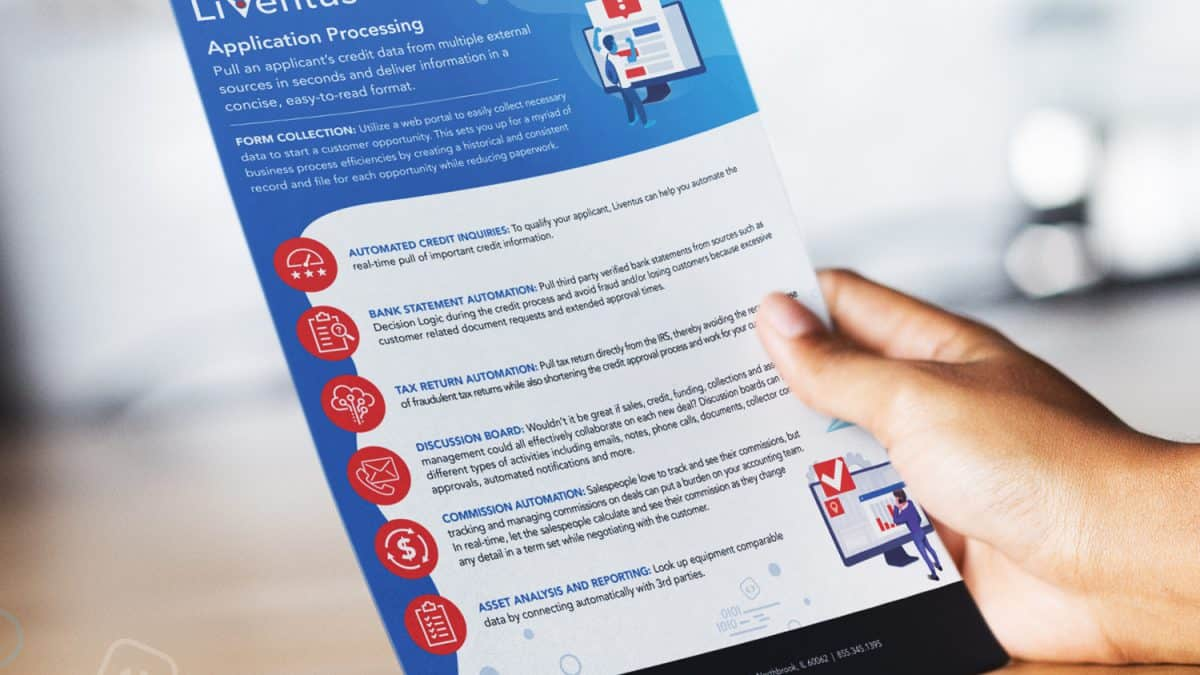 person holding free application processing whitepaper