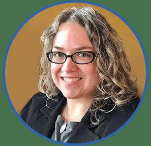 Professional headshot of accessibility expert, Stephanie Glaser.