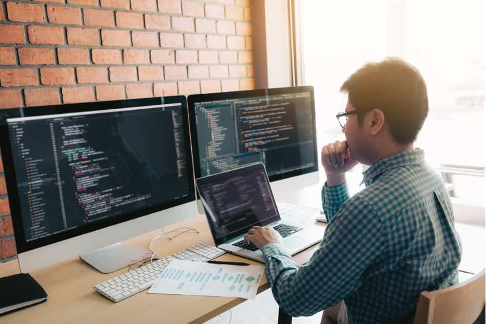 Man Doing Secure Software Development